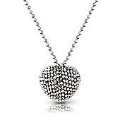Jewelco London Sterling Silver Heart Neckpiece Chain