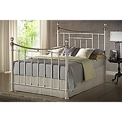 Birlea Bronte Metal Bed Frame - Double - Cream
