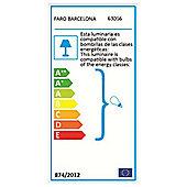 Faro One Light Flush Mount in Nickel Matte (Set of 3) - 10 cm H x 32 cm W x 33 cm D