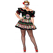 Day of the Dead Doll - Adult Costume Size: 22-24
