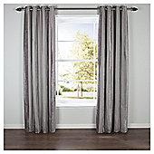 Chenille Stripe Eyelet Curtains W229x229cm (90x90''), Latte