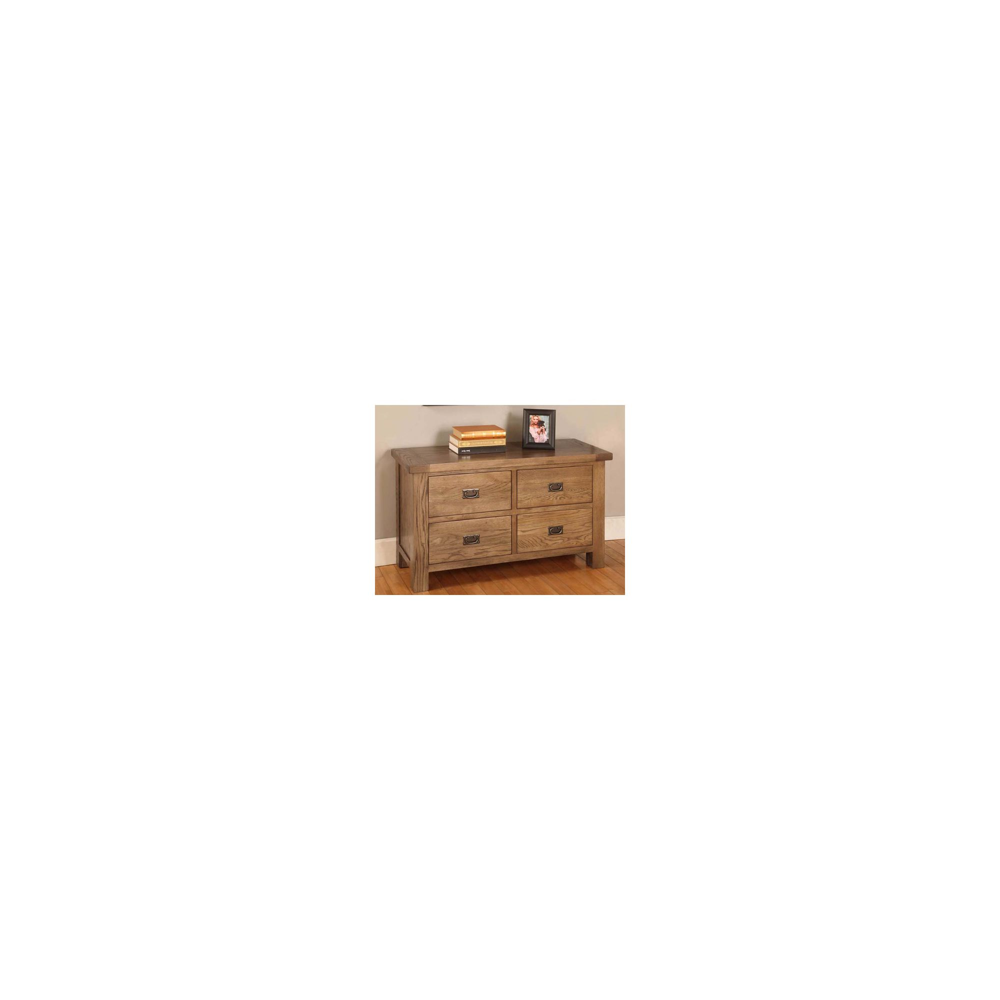 Hawkshead Brooklyn Four Drawers Chest in Rich Patina at Tesco Direct