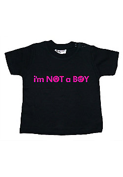 Dirty Fingers I'm NOT a Baby T-shirt - Black