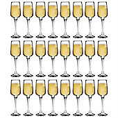 Argon Tableware 'Tallo' Contemporary Champagne Flutes - Party Pack Of 24 Glasses 230ml (8oz)