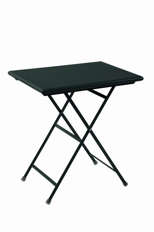emu Arc En Ciel 70cm Folding Rectangular Table - Black