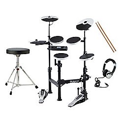 Roland TD-4KP Portable Electronic Drumkit Pack With Stool, Sticks, Headphones And Kick Drum Pedal