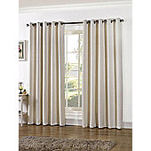 Stella Ready Made Eyelet Curtains - Fully Lined - Beige, Blue, Ivory & Silver - Ivory
