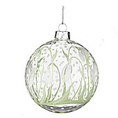 Clear Snowdrop Christmas Bauble