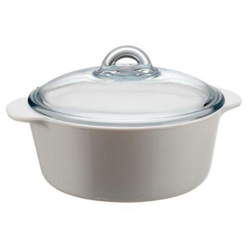 Pyrex 2L casserole+lid