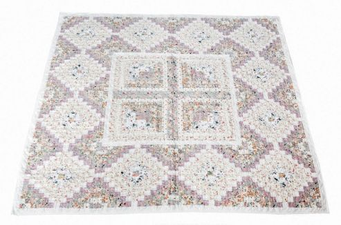 Woven Magic Stam and Cabin Calico Pastels Crib Throw