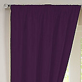 Rectella Sunset Aubergine Thermal Backed Pencil Pleat Faux Silk Curtains -112x183cm