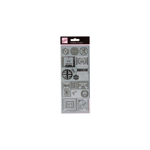 Outline Stickers Postage Stamps Silver