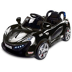 Caretero Aero Battery Operated Ride-On Car (Black)