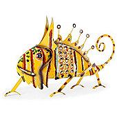 Darwin the Large Bright Metal Chameleon Lizard Gecko Garden Feature Ornament