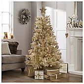 Festive 6ft Cream& Gold Funky Fir Christmas Tree