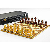 "Classic Wooden Chess Set With Sapele/maple Board 17 "" - K=3 "" (a37slc-sm)."