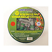 Home Gardener Reinforced Green Hose 30M+Fittings/Spray