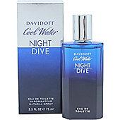 Davidoff Cool Water Night Dive Eau de Toilette (EDT) 75ml Spray For Men