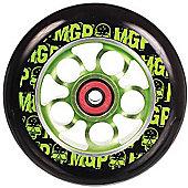 Madd Gear MGP Aero Skull 110mm Scooter Wheel Including Bearings - Green