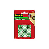 3M Scotch Permanent Mounting Square 12.7mm White 111-SML