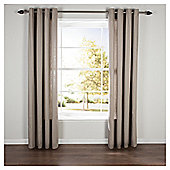 Plain Canvas Eyelet Curtains W117xL137cm (46x54''), Taupe