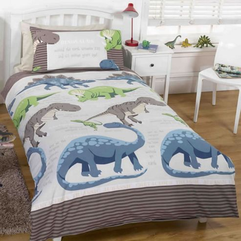 Buy Dinosaur Facts Toddler Bedding - Cream from our Duvet ...