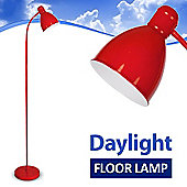 Adjustable Daylight LED Floor Standing Lamp in Red