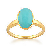 Gemondo Amazonite 'Gala' Pastel Ring in 9ct Yellow Gold Plated Sterling Silver