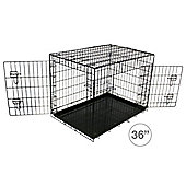 """Bentley Pets 36"""" Metal Dog Cage"""