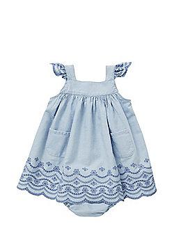 Pumpkin Patch Chambray Dress and Briefs Set - Blue