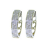 QP Jewellers 0.45ct I-3 Diamond Hoop Huggie Earrings in 14K White Gold