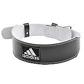 adidas Leather Weightlifting Belt Back Support - Black