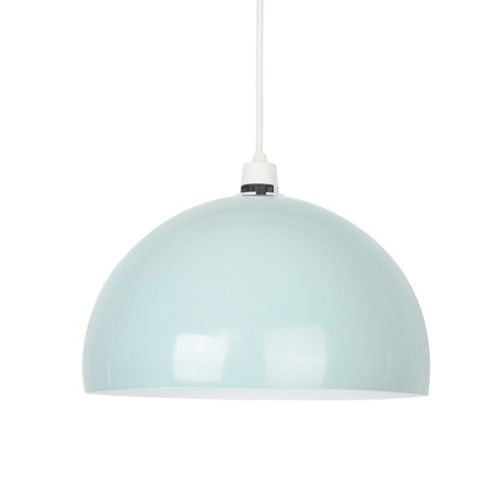 buy curva dome ceiling pendant light shade mint green from our pendant lighting range tesco. Black Bedroom Furniture Sets. Home Design Ideas