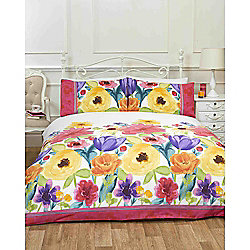 Rapport Art Summer Flowers Multi Coloured Duvet Cover Set - Single