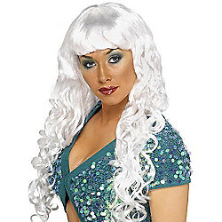 Siren Curly Wig - White