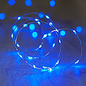20 Micro Blue LED Battery Fairy Lights