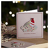Luxury 3D Robin Christmas Cards, 6 pack