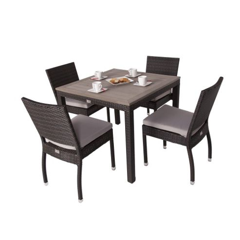 Buy Andreas 4 Seater Square Rattan Plaswood Set With