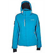 Gora Womens Extreme Waterproof Reflector Hooded Snowboarding Skiing Ski Jacket - Blue