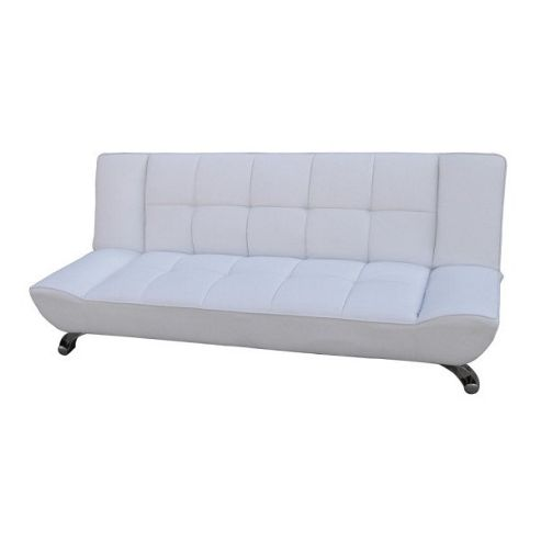 Home Zone Vogue 3 Seater Convertible Sofa Clic Clac Bed - White