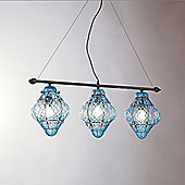 Siru Vecchia Murano Three Light Pendant - Light Blue Baloton