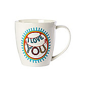 Linea By Mary Fellows I Love You Mug In White
