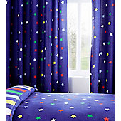 Multi Coloured Star Eyelet Curtains 72s