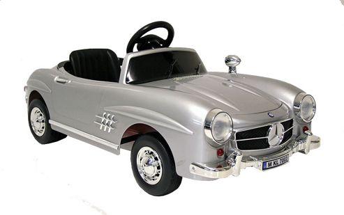 Buy kids electric car mercedes benz 300 sl 12 volt silver for Mercedes benz kids 12 volt electric car
