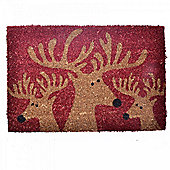 Christmas Reindeer Design Coir Doormat for the Home