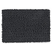 Tesco Chenille Bath Mat Black