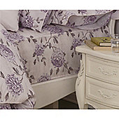 Kew Gardens Peony Script Lavender Fitted Sheet - Double