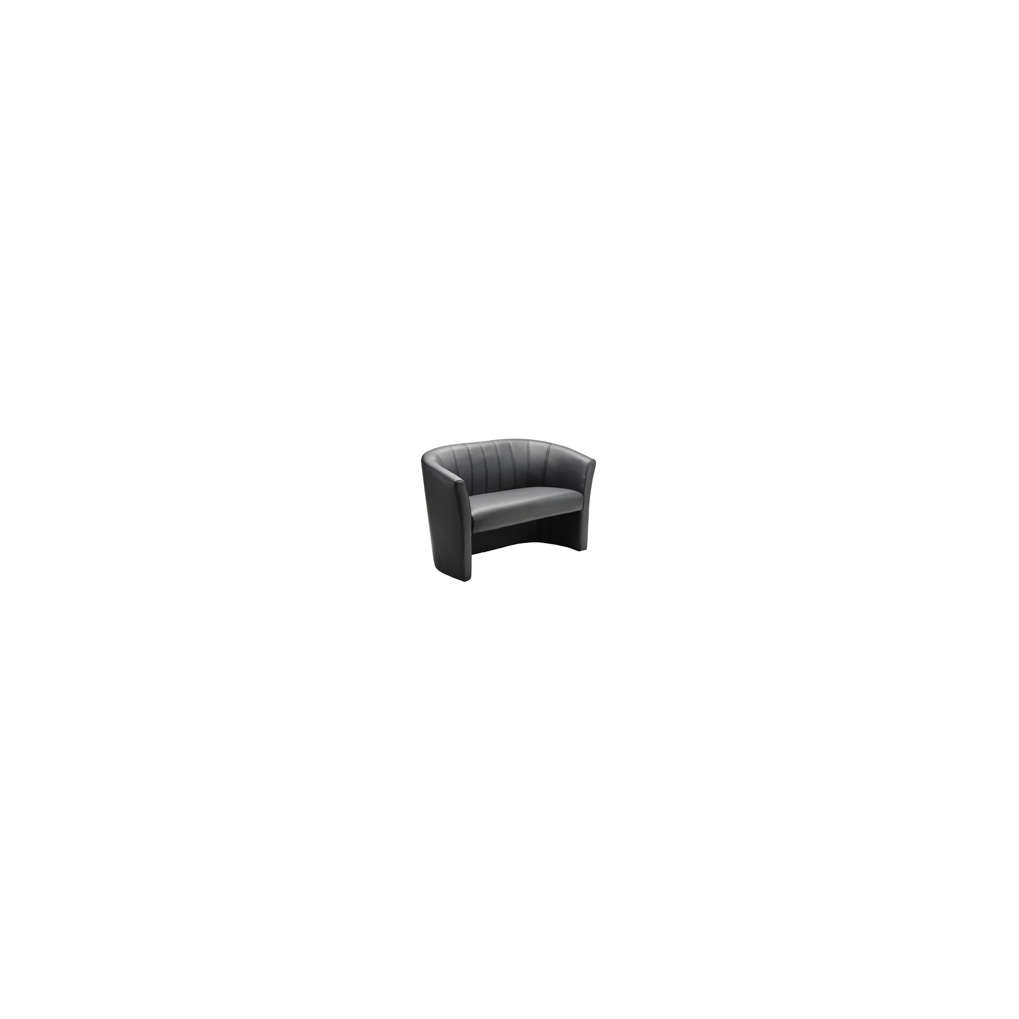 Tasha Creations Faux Bi-Cast Leather Two Seater Sofa in Black at Tesco Direct