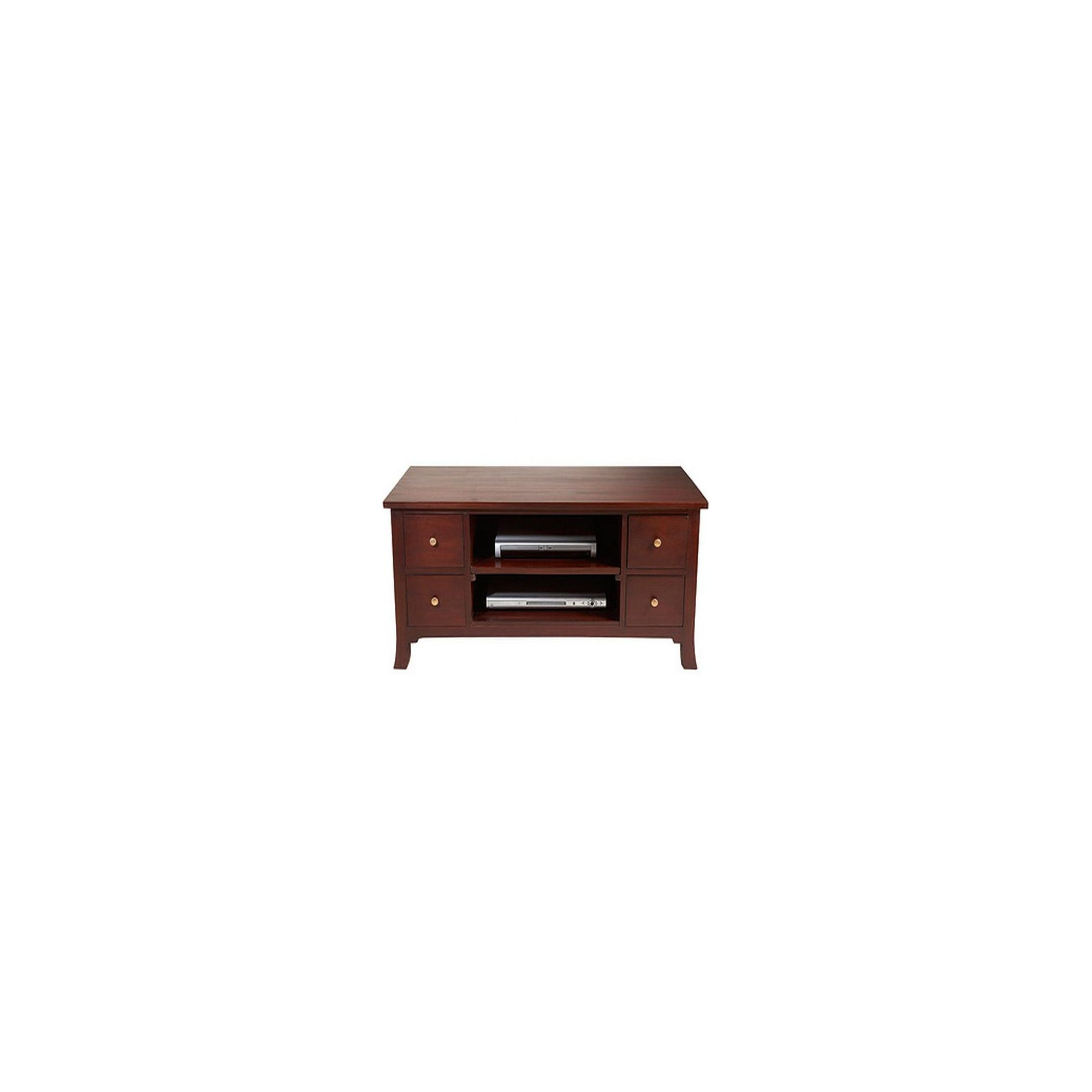 Lock stock and barrel Mahogany Orchard Straight TV Stand in Mahogany at Tesco Direct