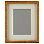 "Basic Oak Effect Photo Frame 8 x 10""/5 x 7"" with Mount"